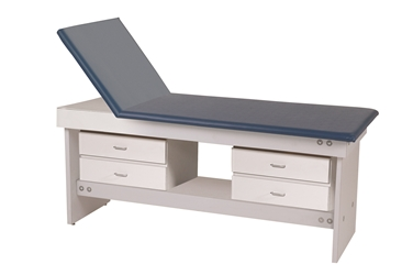 Adjustable Back Exam Table with 4 Drawers