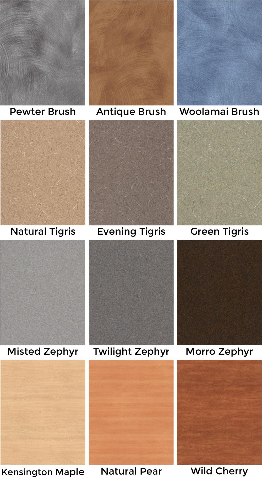 Custom Comfort Laminate Colors - Patterned