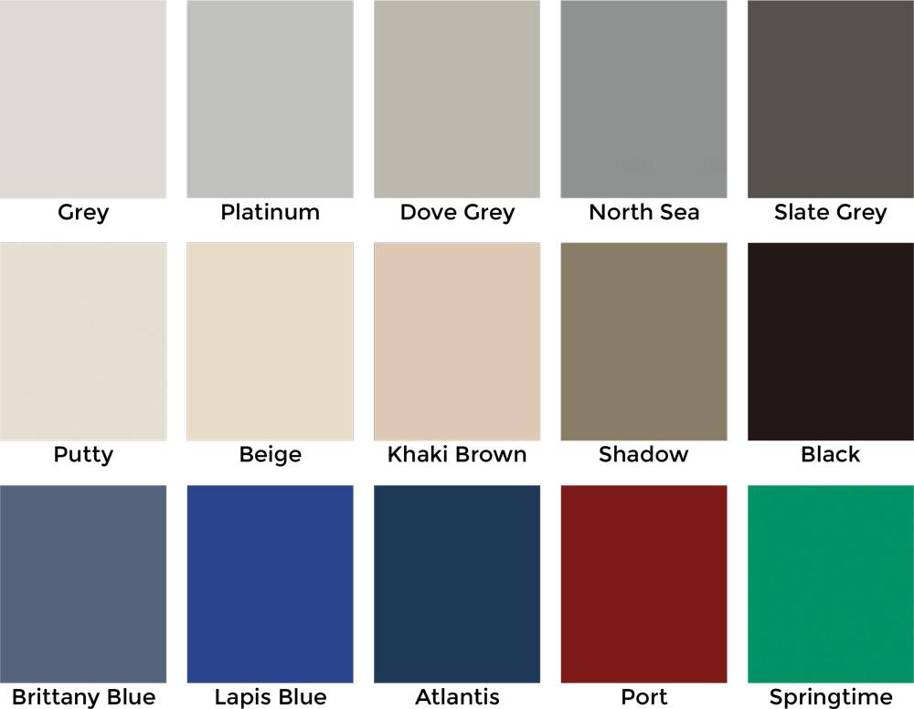 Custom Comfort Laminate Colors - Standard