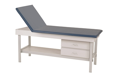 Adjustable Back Exam Table with 2 Drawers