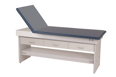 Adjustable Back Exam Table with 3 Drawers