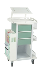All Purpose Storage Cart With Laptop Shelf - Green