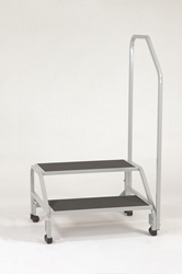Bariatric 2-Step Stool with Hand Rail
