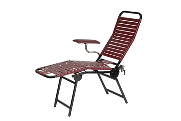 Portable Folding Donor Bed - Burgundy/Black