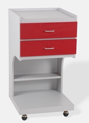Supply Cabinet - Platinum/Red