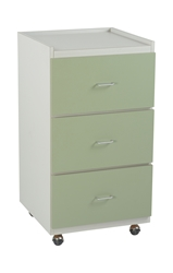 Supply Cabinet - Platinum/Light Green