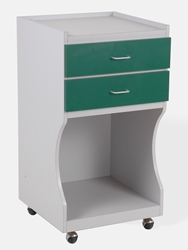 Supply Cabinet - Platinum/Hunter Green