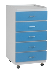 Supply Cabinet - Platinum/Light Blue