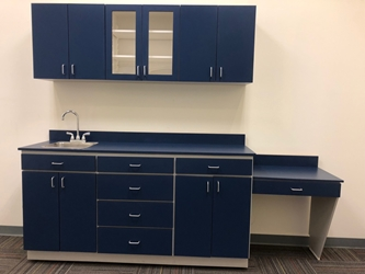 Casework and Modified Cabinet Combo - Dark Blue